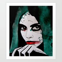 emerald Art Prints featuring Emerald by LisaMMurphyArt