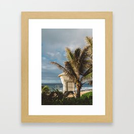 Hawaii Lifeguard Post Framed Art Print