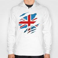 british flag Hoodies featuring British Flag Pride by northside