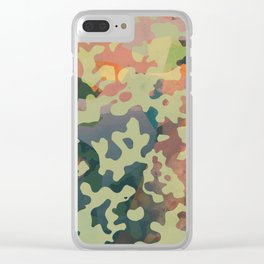 Camouflage XXXXV Clear iPhone Case