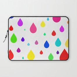 colorful raindrops Laptop Sleeve