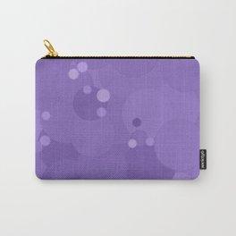 Paisley Purple Bubble Dot Color Accent Carry-All Pouch