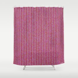 Pink Roses in Anzures 1 Knit 2 Shower Curtain