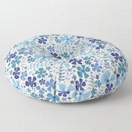 My Little Garden blue & green Floor Pillow