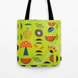 Modern decor with fruits and flowers Tote Bag