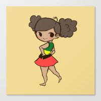 jamaica Canvas Prints featuring Jamaica 2 by Cat in the Box
