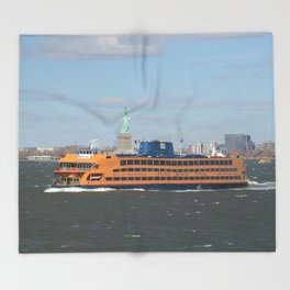 Staten Island Ferry Throw Blanket