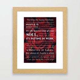 Bless My Hustle Manifesto Framed Art Print