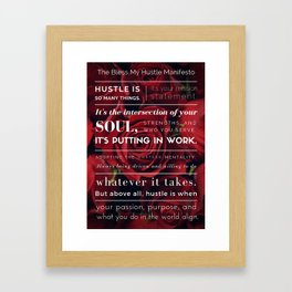 Bless My Hustle Manifesto Framed Art Print