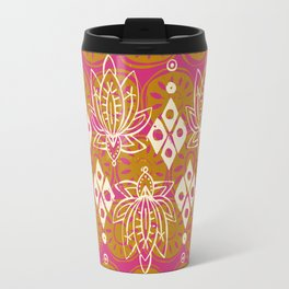 lotus diamond pink Travel Mug