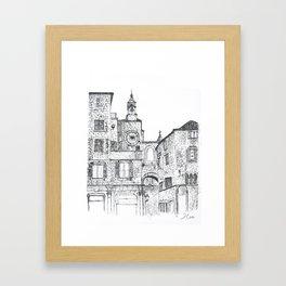 Stara Ura The Old Town Clock Framed Art Print