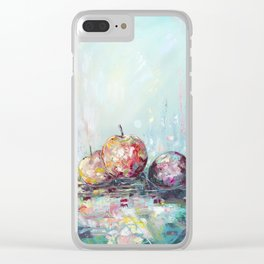 Fruit lunch - oil painting art print Clear iPhone Case