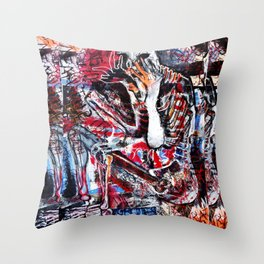 Buried Alive Throw Pillow
