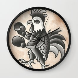 Cock Fight Wall Clock