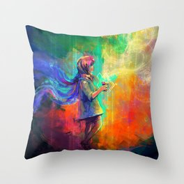 Spell of flying Throw Pillow