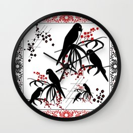 "A series of "" Favorite pillow ""Parrots 1 Wall Clock"