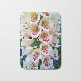 Lovely Spotted Flowers Bath Mat