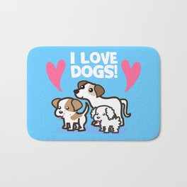 I Love Dogs Bath Mat