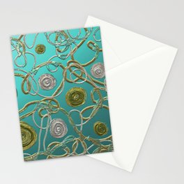 GOLD & SILVER ABSTRACT Stationery Cards