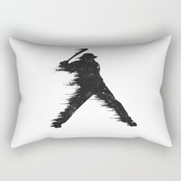 Baseball Player Batter Rectangular Pillow