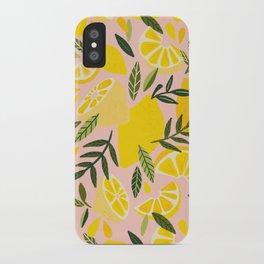 Lemon Blooms – Blush Palette iPhone Case