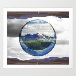 MOUNTAIN ECLIPSE Art Print