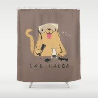 lab Shower Curtains featuring lab-rador by Louis Roskosch