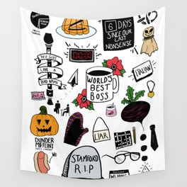 The Office doodles Wall Tapestry