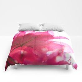 Bright Bougainvillea Comforters