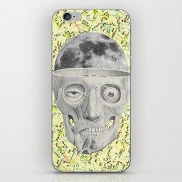 poor skeleton steps out iPhone Skin