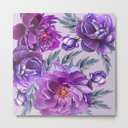 Violet and Purple Flowers Metal Print