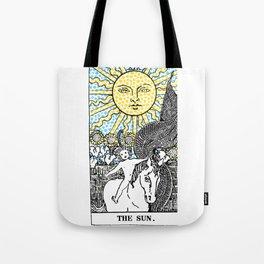 Modern Tarot Design - 19 The Sun Tote Bag