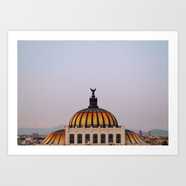 Palacio de Bellas Artes Mexico City Landscape Art Print
