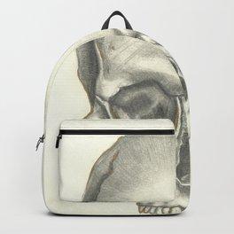 Vintage Skull - Black and White Drawing Backpack