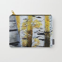 Birch Grove, acrylic painting, inspired by Belarus Carry-All Pouch