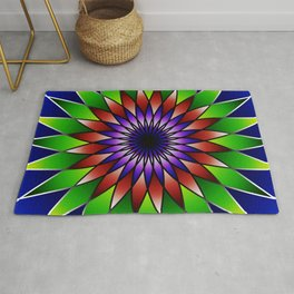 Queen of the valley mandala Rug