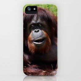 Hapy Orangutan iPhone Case