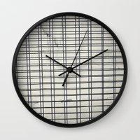 grid Wall Clocks featuring Grid by farsidian