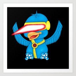 Cyclops X-Bird Art Print