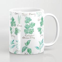 green herbs family watercolor Coffee Mug