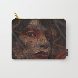 Shell - Cyborg Portrait Carry-All Pouch