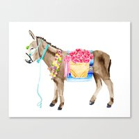 donkey Canvas Prints featuring Donkey by THE AESTATE