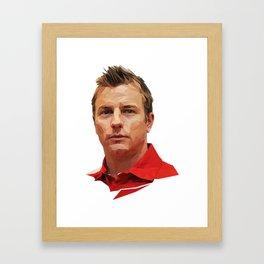 Kimi Raikkonen low poly Framed Art Print