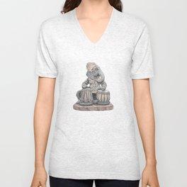 Tabla Ganesh Unisex V-Neck