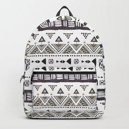 Native American Ornaments Watercolor Pattern Brown Backpack
