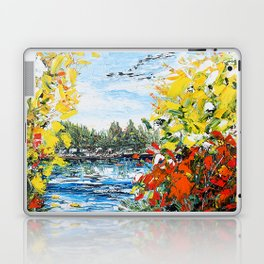 Landscape painting- The departure - by LiliFlore Laptop & iPad Skin