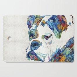 Colorful English Bulldog Art By Sharon Cummings Cutting Board