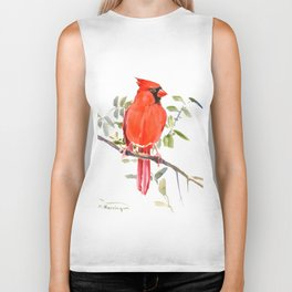 Cardinal Bird homde decor Biker Tank