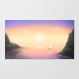 Purple Cove Canvas Print