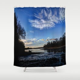 Dusk on the River Shower Curtain